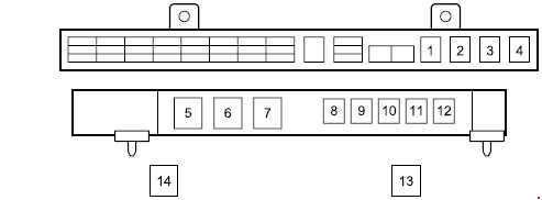 Isuzu N-Series fuse box diagram