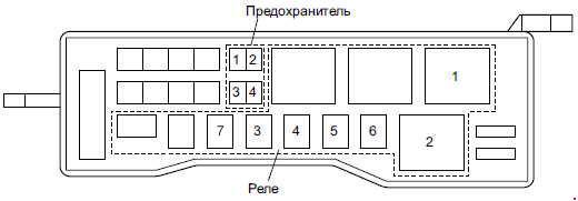 Схема предохранителей и реле Isuzu N-Series