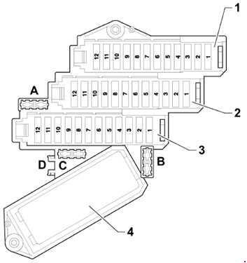 05-'15 Audi Q7 Fuse Box Diagram | Audi Q7 Rear Fuse Box |  | knigaproavto.ru