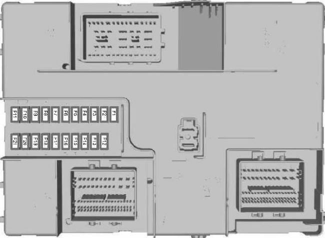 Схема предохранителей и реле Ford Transit (2014-н.в.)