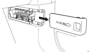 Схема предохранителей Honda Odyssey (RB3-RB4; 2008-2013)