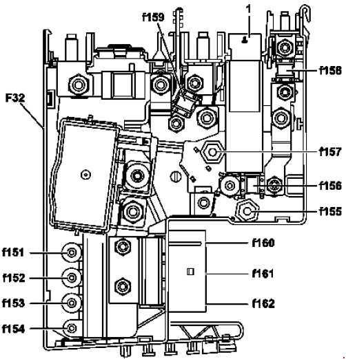 Схема предохранителей и реле Mercedes-Benz GLK (X204; 2008—2015)
