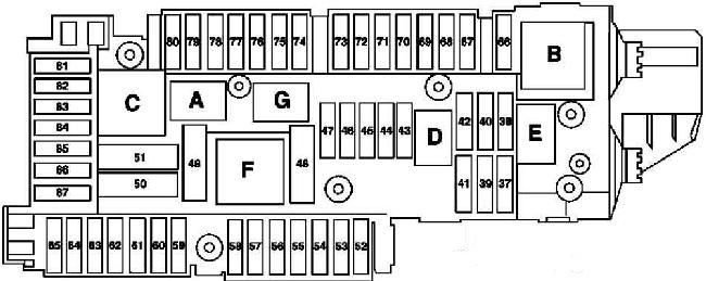mercedes c cl fuse box diagram