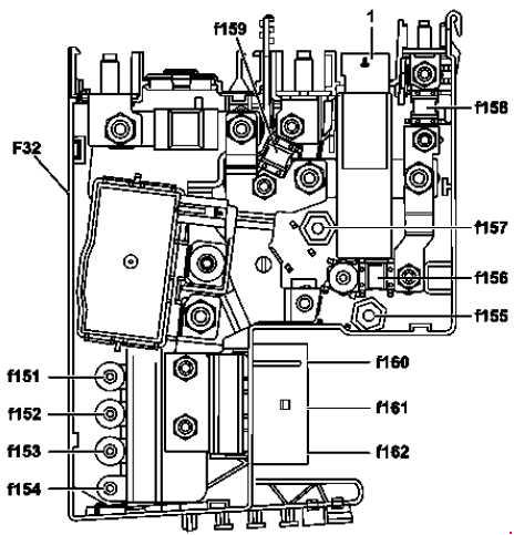 Схема предохранителей и реле Mercedes-Benz W204 (C-Class; 2007—2014)