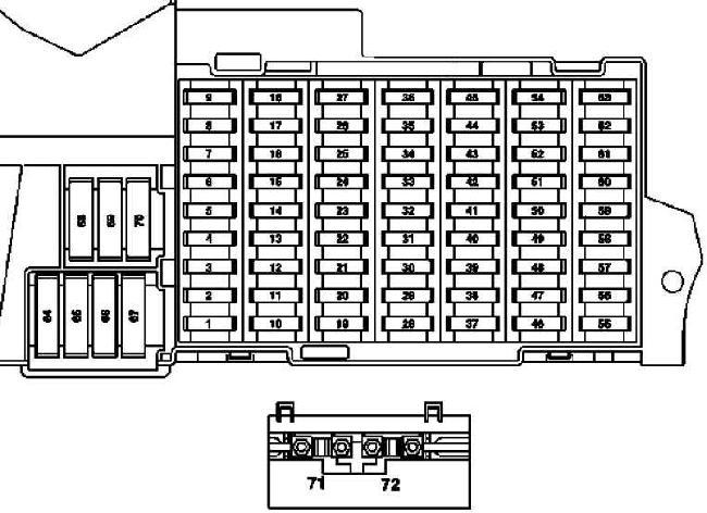 Схема предохранителей и реле Mercedes-Benz W245 (B-Class; 2005–2011)