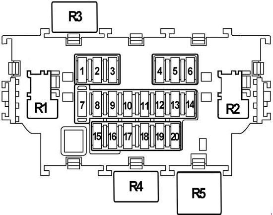 Схема предохранителей и реле Nissan X-Trail T31 (2007-2014)
