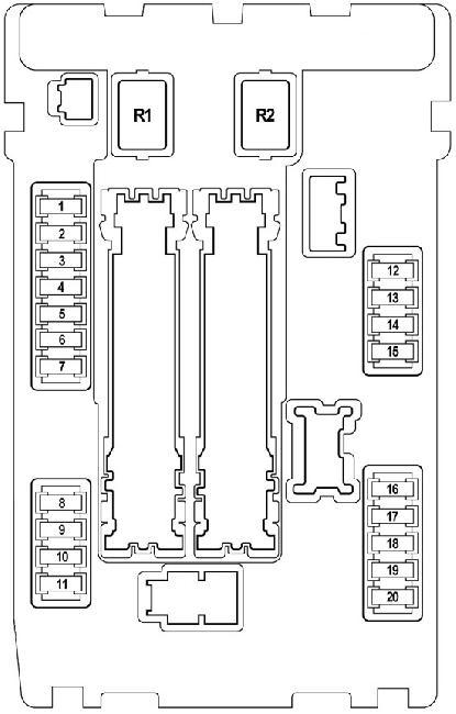 Схема предохранителей и реле Nissan Teana J32 (2008—2014)