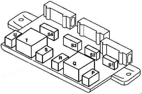 1998-2002 Smart City-Coupe / Fortwo (A450, C450) fuse box diagram
