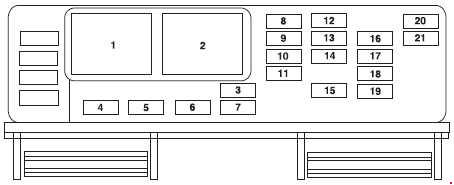 2003-2007 Ford Freestar fuse box diagram » Fuse Diagramknigaproavto.ru