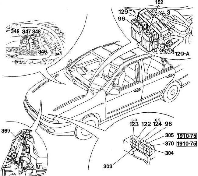 Fiat Marea fuse box diagram