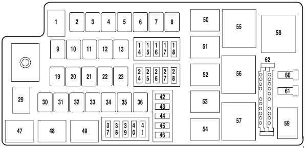 2004-2007 Ford Five Hundred fuse diagram » Fuse Diagram