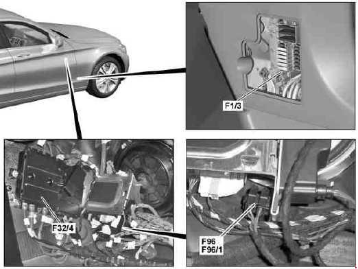 Mercedes-Benz C-Class (W205) fuse diagram » Fuse Diagram