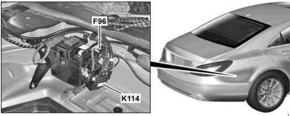 Схема предохранителей и реле Mercedes-Benz CLS-Class W218 (C218/X218)