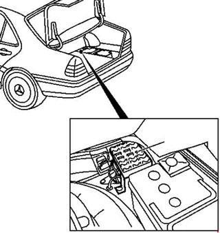 1993-2001 Mercedes-Benz W202 (C-Cl) fuse diagram » Fuse Diagram on