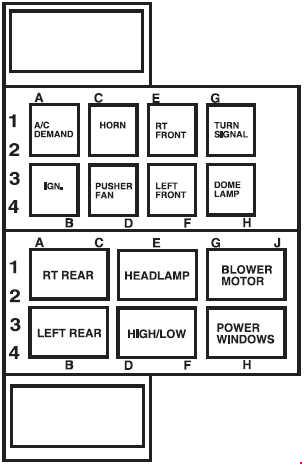 2006 2009 ford lcf low cab forward fuse diagram fuse diagram rh knigaproavto ru 2009 Ford Focus Fuse Box Location 2004 Ford Focus Fuse Box Location