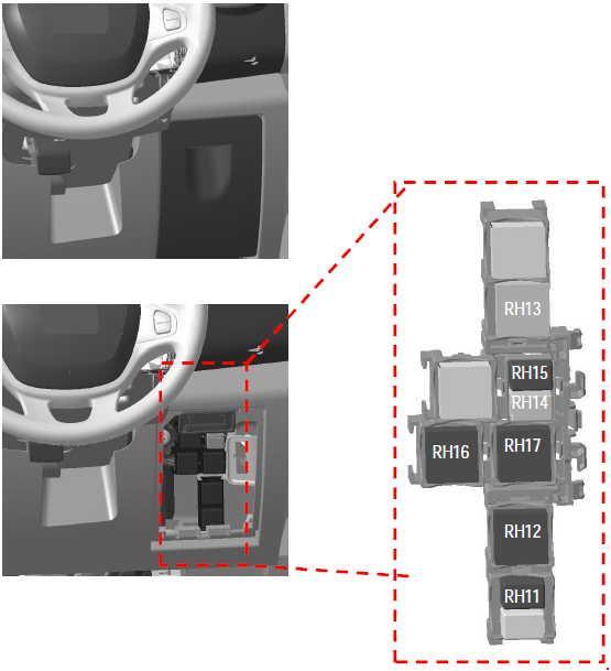 2014-2018 Opel And Vauxhall Vivaro B Fuse Box Diagram