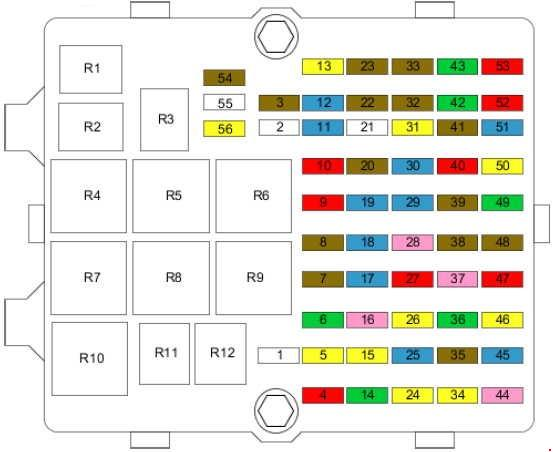 2002–2008 Ford Fiesta Mk5 fuse box diagram » Fuse Diagram