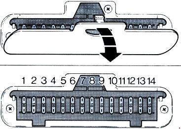 1983-1989 Ford Fiesta Mk2 Fuse Box Diagram
