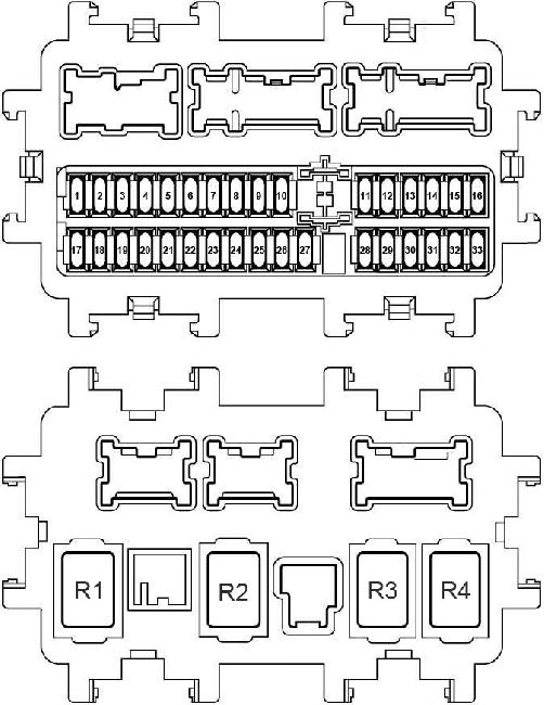 Схема предохранителей и реле Nissan X-Trail T32 (2014-н.в.)