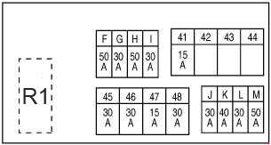 2014-2018 nissan x-trail t32 fuse box diagram
