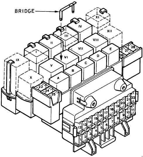 1989-1997 Ford Fiesta Mk3 Fuse Box Diagram