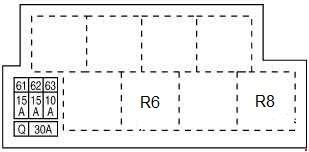 Схема предохранителей и реле Infiniti FX35, FX37, FX50, QX70 (S51 - 2008–2017)