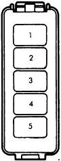 1985–1998 mazda b2000, b2200, b2600 fuse box diagram