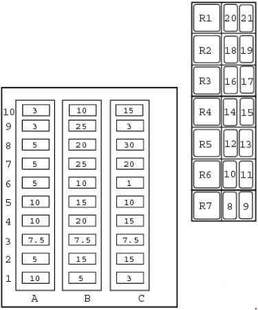 JCB 2CX Fuse Box Diagram