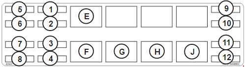 Bobcat 331, 331E & 334 Fuse Box Diagram