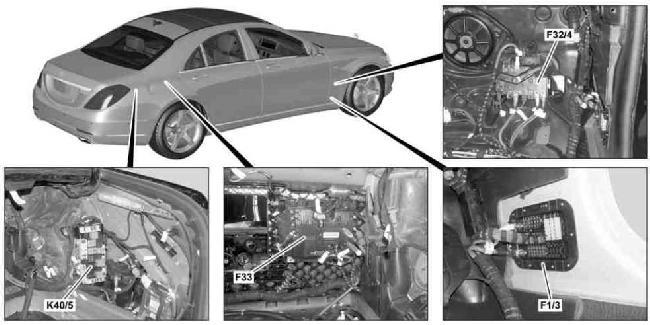 14-'18 Mercedes W222 & C217 Fuse Box Diagram  knigaproavto.ru