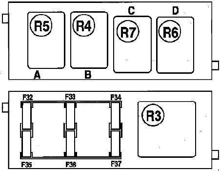 2002-2006 Renault Espace IV Fuse Box Diagram