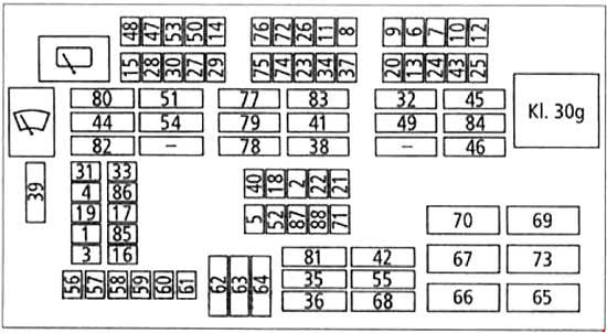 2005-2010 BMW 3 (E90, E91, E92, E93) Fuse Box Diagram