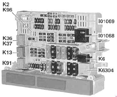 2005-2010 BMW 3 (E90, E91, E92, E93) Fuse Box Diagram » Fuse