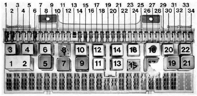1977-1995 porsche 928 fuse box diagram