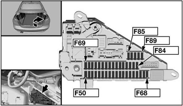 Схема предохранителей и реле BMW 5 E60 и E61 (2003-2010)