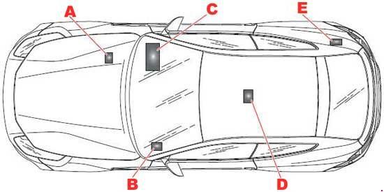 2011-2016 Ferrari FF Fuse Box Diagram