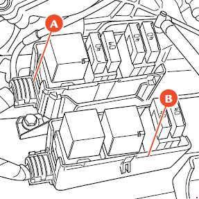 2006–2012 Ferrari 599 Fuse Box Diagram