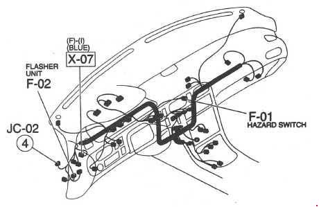 19911997 Mazda 626 And Mx 6 Ge Fuse Box Diagram Fuse Diagram