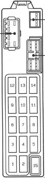 1991–1997 Mazda 626 and MX-6 (GE) Fuse Box Diagram » Fuse Diagramknigaproavto.ru