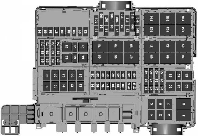 2015-2018 Ford F-150 Fuse Box Diagram
