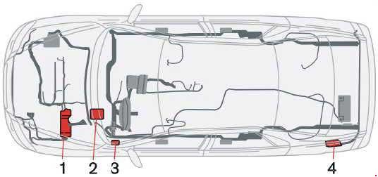 2001-2009 Volvo S60 and S60 R Fuse Box Diagram » Fuse Diagram on