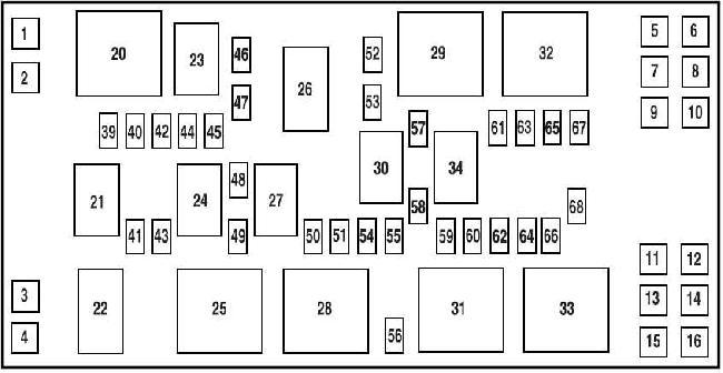 2005–2009 Ford Mustang Fuse Box Diagram » Fuse Diagram | Ford Mustang Fuse Panel Diagram |  | knigaproavto.ru