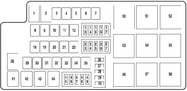 2010–2014 ford mustang fuse box diagram