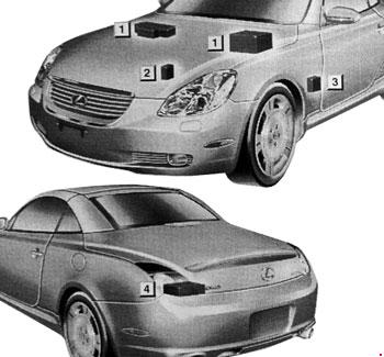 01-'10 Lexus SC 430 Fuse Box Diagram | 2003 Lexus Sc430 Fuse Box |  | knigaproavto.ru
