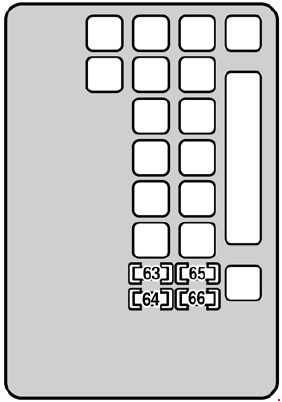 Схема предохранителей Lexus SC 430 (2001-2010)
