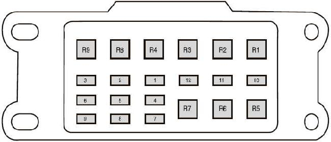 2011-2018 ford ranger t6 fuse box diagram