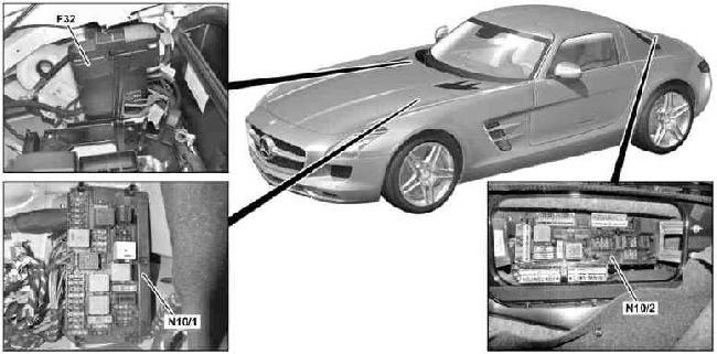 Mercedes-Benz SLS AMG Fuse Box Diagram