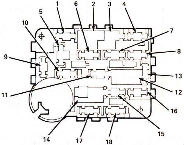 1984-1987 Lincoln Mark VII Fuse Box Diagram
