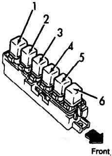 1990-1996 infiniti g20 (p10) fuse box diagram