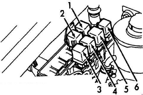 1990-1996 Infiniti G20 (P10) Fuse Box Diagram